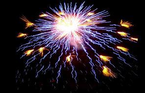 fireworks on new year day lit up prayer city