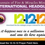 MFM STRATEGIC PRAYERS FOR for 12-12-12