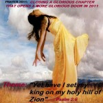 "Pray Your Way into 2011: DAY 5 – ""Yet have I set my king on my holy hill of Zion""! (Psalm 2:6)"