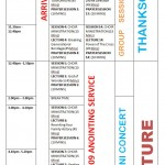 Time Table For The 3rd MFM International Convention