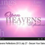 "Open Heavens Friday 2nd August 2013 ""WHO DO YOU FEAR?"" – Pastor E. A. Adeboye"