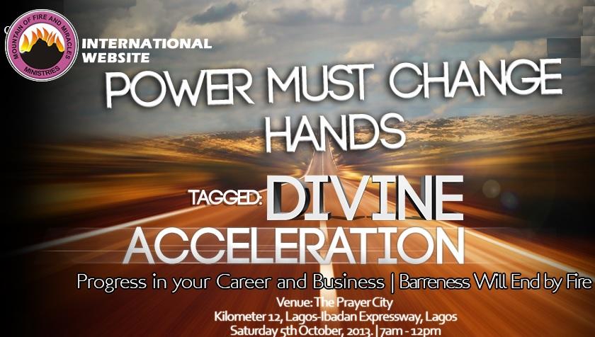 Power Must Change Hands October 2013