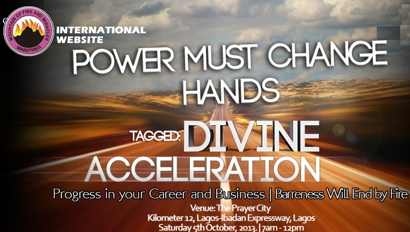 OCTOBER 2013 Power Must Change Hands (PMCH) Programme