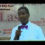 As 100 Days Fasting and Prayer Begin Today, Pastor Adeboye Gives Fasting guidelines (Video)