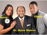 Dr. Myles Munroe and his two children, Charisa and Chario