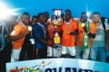 MFM players celebrating their Church World Cup victory in December 2014