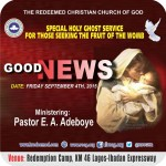 LIVE Reports From Good News! Redemption City: September 2015 Special Holy Ghost Service – Fruit of the Womb