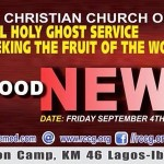 September 2015 Holy Ghost service (TRANSCRIBED): GOOD NEWS – By Pastor E. A. Adeboye