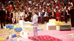 Bishop David Abioye preaching during the festival of glory