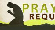 Prayer Request . . .