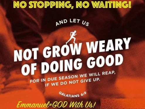 NO STOPPING, NO WAITING, KEEP GOING!