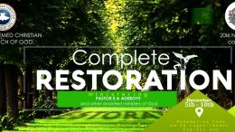COMPLETE RESTORATION - HOLY GHOST CONGRESS