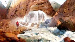 ROCK THAT GUSHES WATER IS CHRIST JESUS