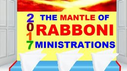 MANTLE OF RABBONI MINISTRATIONS - JANUARY 2017
